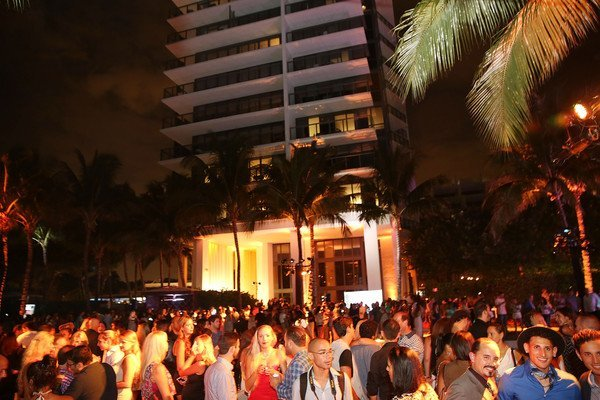 Huge Crowd at Planet Fashion TV Opening night party for Swimweek