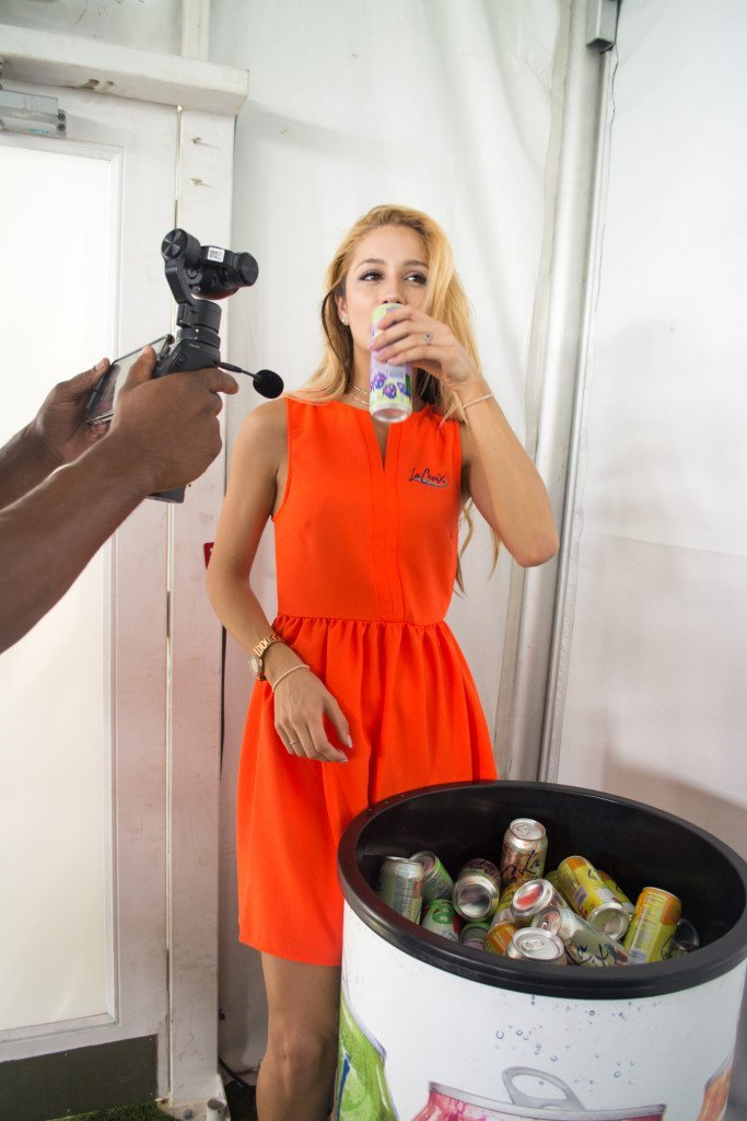 LaCroix Sparkling Water at Swimwear Fashion Week