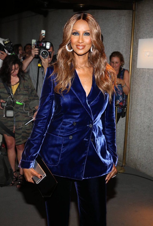 New York Fashion Week September 2016 - Men's and Women's SS17 - Tom Ford - Presentation Arrivals Featuring: Iman Where: New York, New York, United States When: 07 Sep 2016 Credit: Jeff Grossman/WENN.com